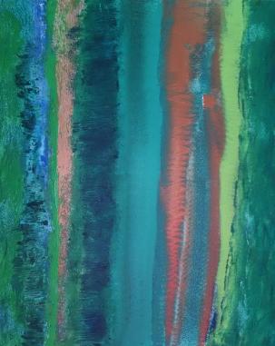 "30"" x 24"" acrylic on washed canvas"