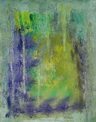 """30"""" x 24"""" water color and acrylic on white washed canvas"""
