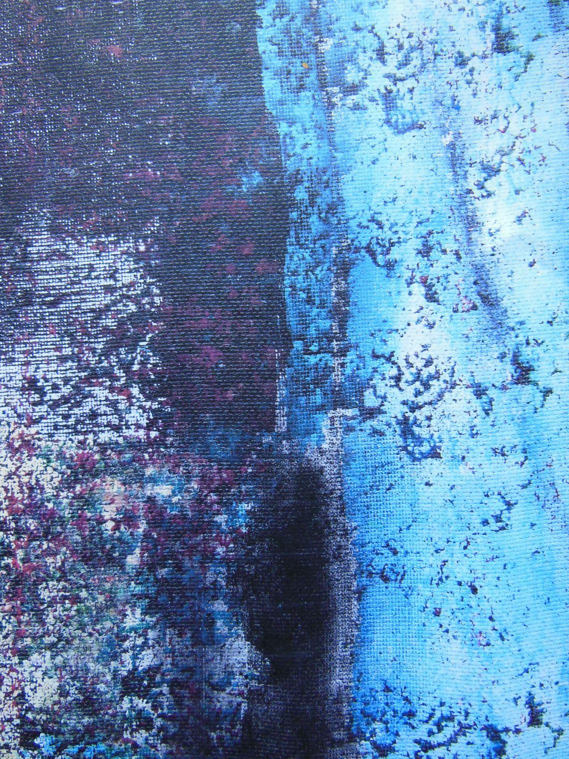 20x16 washed canvas acrylic